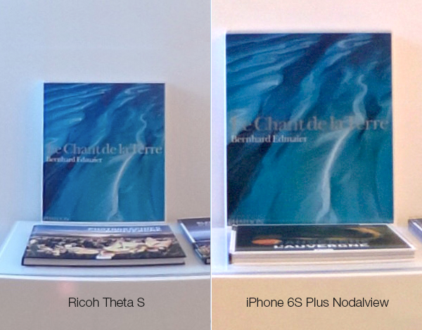 Ricoh theta vs Nodalview avec un iPhone 6S PLUS
